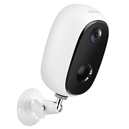 Zeetopin Überwachungskamera Aussen Akku 10000mAh,1080P Kabellose Outdoor WLAN IP Kamera,PIR-Bewegungserkennung,2-Wege-Audio,15M Nachtsicht,IP65 wasserdicht,Cloud/SD Storage