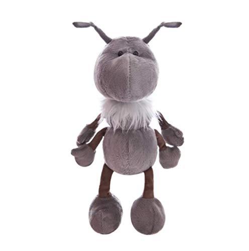 Yzhome Graues Glückliches Ameisen-Plüschtier 30 cm, Große Augen Süßes Weiches Kindergeschenk