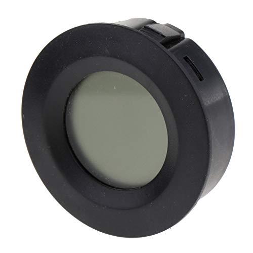 perfk Digitales Thermo-Hygrometer Temperatur Luftfeuchtigkeit Messgerät für Terrarium - Schwarz