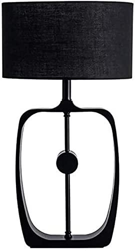 Lámpara Escritorio Lámpara de Escritorio de Estudio de Invitados de Lujo Moderno Personalidad Creativa lámpara de Escritorio Decorativa de Dormitorio de Tela de Hierro Negro 38 * 68 cm