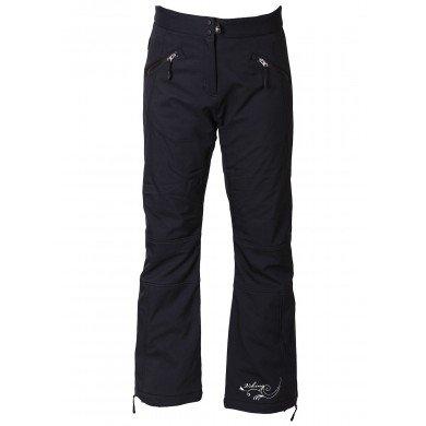 Viking Esthella dames ski softshell broek ademend skibroek softshell broek - zwart, XL