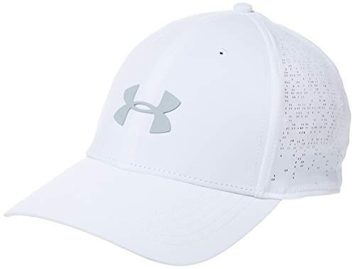 Under Armour Damen Elevated Golfkappe Kappe, Weiß, Einheitsgröße