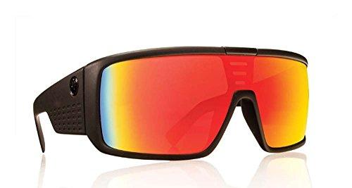Dragon Negro Mate Rojo Ion DOMO gafas de sol cuadradas