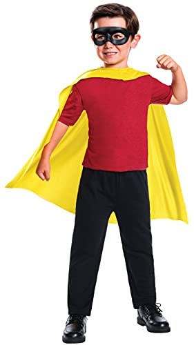 Rubie's Costume Boys DC Comics Robin Cape & Mask Set Costume, One Size , White