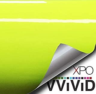 16 Inch x 60 Inch VViViD Gloss Chrome Gold Vinyl Wrap Adhesive Film Roll Air Release DIY Decal Sheet