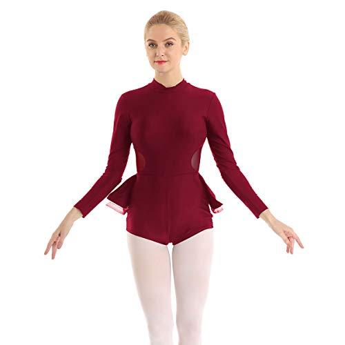 Agoky Maillot de Ballet Danza para Mujer Vestido Tutú Patinaje Artístico Sin...