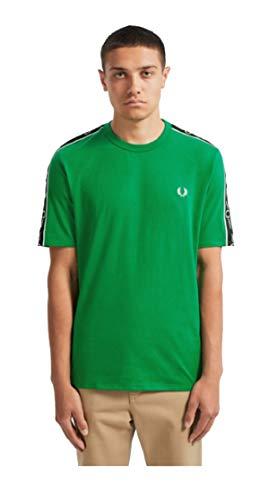 Fred Perry T-Shirt Uomo M7513 I64 Cotone Verde AI19 XS