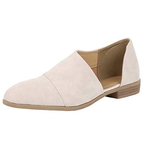 Women's Stylish Flat Closed Toe Comfortable Cut Out Pointed Toe Ankle Booties Lime