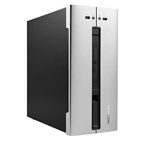 MEDION E40015 Desktop PC (Intel Core i3-10100, 8GB DDR4 RAM, 1TB HDD, DVD, Intel UHD 630, Wi-Fi 6, Bluetooth 5.0, Win 10 Home)
