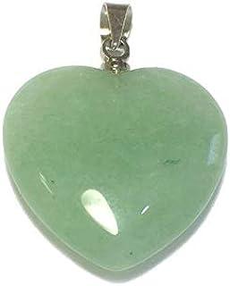 Ciondolo a forma di cuore avventurina verde 20.