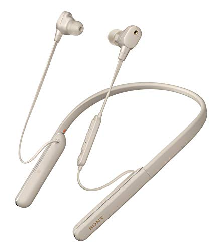 Sony WI-1000XM2 kabellose Bluetooth Hi-Res In-Ohr Kopfhörer (Noise Cancelling, Headset, Freisprecheinrichtung, Amazon Alexa, 10h Akku, Neckband-Style, Headset mit Mikrofon für Telefon & PC) silber