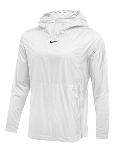 Nike Mens Authentic Collection Lightweight Fly Rush Jacket White/Black Size Medium