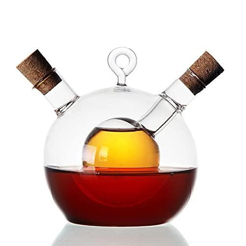 Botellas de vinagre de aceite, dispensador de aceite y vinagre 2 en 1, botella de aceite dispensador de aceite botella de aceite de vidrio, para cocina de cocina, hornear, asar, asar, freír