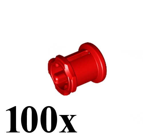 LEGO Technic NEW 100 pcs RED BUSH Bushing Cross Axle Connector Mindstorms NXT EV3 robot robotics motor building small Part Piece 3713
