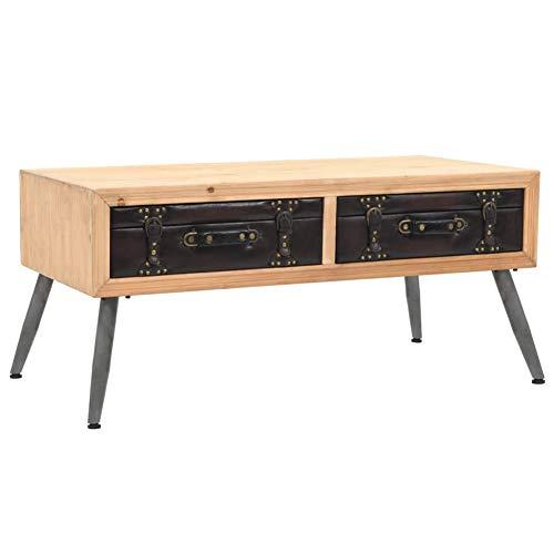 Mesa de café, mesa de madera de abeto maciza, mesa de pie,...