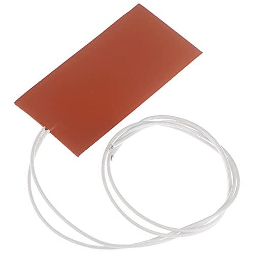 XBaofu Mat Placa 1pc 15W 12V DC 50x100mm Impermeable Flexible de Silicona del cojín Calentador de Alambre Calentador del Bloque del Motor del cárter de Aceite Tanque hidráulico de calefacción