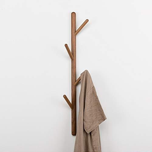 Xujie Artículos para el hogar Colgador for Colgar de la Ropa de Madera Maciza con Forma de árbol, Colgante, tamaño: 75x3cm, Nogal Negro Artículos para el hogar