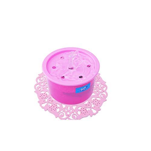 AAGOOD Circulación automática Fuente de Agua del Gato del Perro casero de la Fuente eléctrica dispensador de Agua Potable con USB Plataforma de Carga Pink 1PC