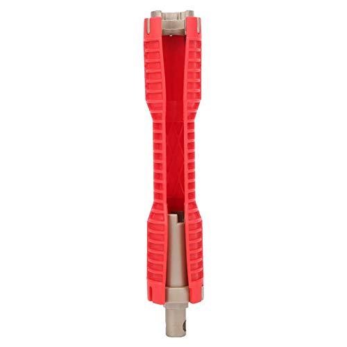 Llave inglesa multifunción para tubería de agua llave de fregadero llave de tubo herramientas de plomería para uso doméstico rojo