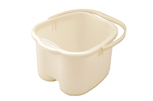 Inomata Pearl Foot Detox Massage Spa Bucket, White