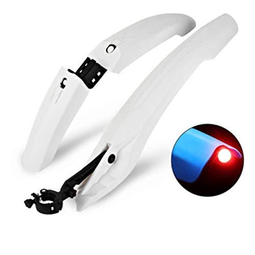 Seremy Schutzblech Set, Spritzschutz für vorn & hinten, universal, für Fahrräder mit 22-29 Zoll, Mudguard, Schutzt vor Schlammspritzer (Weiß)