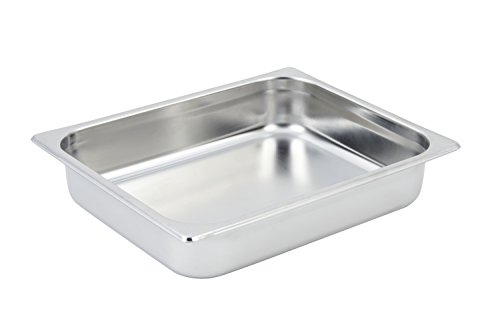 "Bon Chef 12022 1/2"" Rectangular Food Pan for Small Chafing Dish, 3-1/2 Quart Capacity, 12-3/4"" Length x 10-3/8"" Width x 2-1/2"" Height"