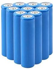 電池 充電池 バッテリー5000mAh 3.7V大容量 1000回以上充電サイクル 充電式 バッテリー液漏れ防止設計 PCB保護回路18650リチウムイオン電池 トップライト/LED懐中電灯/ヘッドランプ等に適用 (5000mAh 10本)