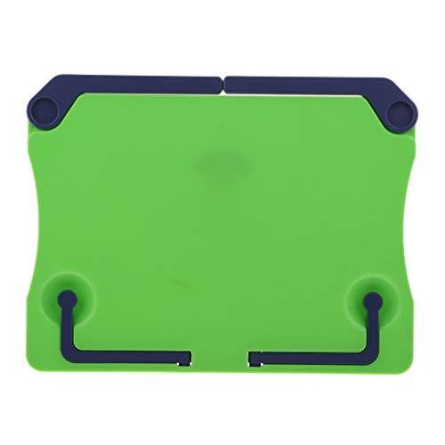 Verstellbarer, tragbarer Buchständer Kunststoff Buchhalter für Hardcover-Lehrbuch, Kochbuch - Grün