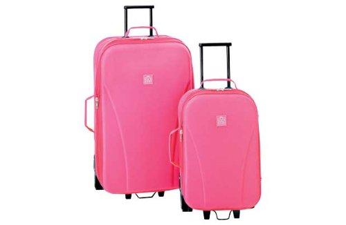 Go Explore 2 Piece Wheeled Luggage Set - Pink.