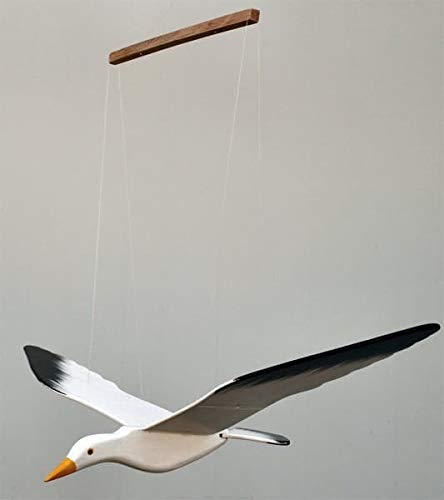 ROMBOL Schwingvogel, Schwingtier, Holz, Möwe (23x45x7,5 cm)