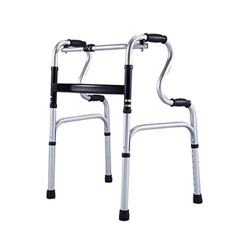JHDPH3 De pie plegable de rehabilitación Walker vertical bariátrica Médico de ancianos marco Silla de bastón Permanente Rehabilitación Baranda de aleación de aluminio andadores for personas mayores Mu