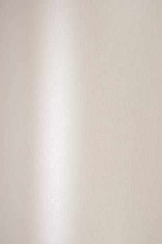 10 x Blatt Perlmutt-Creme 230g Papier DIN A4 210x297mm, Sirio Pearl Oyster Shell, ideal für Hochzeit, Geburtstag, Weihnachten, Einladungen, Diplome, Grußkarten, Scrapbooking, Kunst und Handwerk