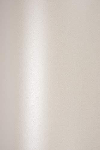 10x Blatt Perlmutt-Creme 125g Papier DIN A4 210x297mm, Sirio Pearl Oyster Shell, ideal für Hochzeit, Geburtstag, Taufe, Weihnachten, Einladungen, Diplome, Visitenkarten, Grußkarten, Scrapbooking