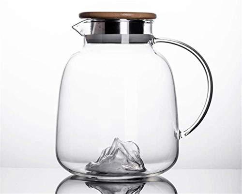 GAOYINMEI Tetera Tetera de 1,8 l/Ráfaga-Anti Botella de un litro de borosilicato jarro de Agua Agua Jarra con la Tapa Jugo Jarra de Vidrio Jarra de Vidrio Jarra de té Jug vertedor