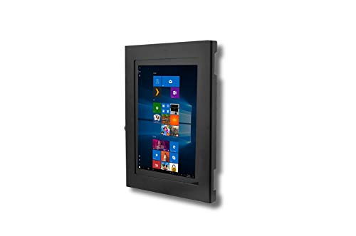 TABcare Locking Anti-Theft Security Metal Case for Microsoft Surface Pro 2 3 4 5 6 7 X Go Tablet Supports VESA, Wall Mount (Surface Pro 3/4/5/6, Black)