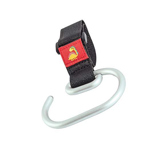 teng hong hui Cochecito para niños Ganchos Carrito silleta rotar 360 Grados Percha Percha mosquetón Cesta con Clip de Aluminio Gancho de aleación Cochecito Organizador