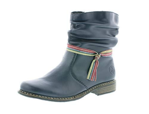 Rieker Damen Stiefeletten, Frauen Klassische Stiefelette, Woman Freizeit leger Stiefel Boot halbstiefel damenstiefel Bootie,Ozean,40 EU / 6.5 UK