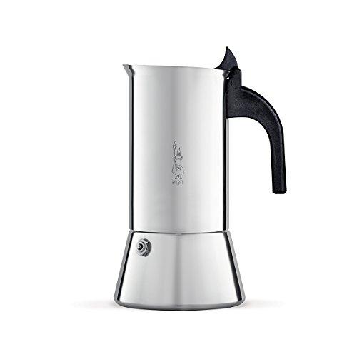 Bialetti Venus Espressokocher für induktion, Stahl, Silber, 10 Tassen
