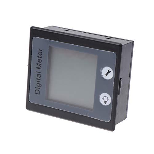Garneck Gleichstrommessgerät Gleichstrommessgerät Batteriemonitor Multimeter 0-100A 80-260V LCD Digitalanzeige Stromkreis Messgerät für Das Home Office