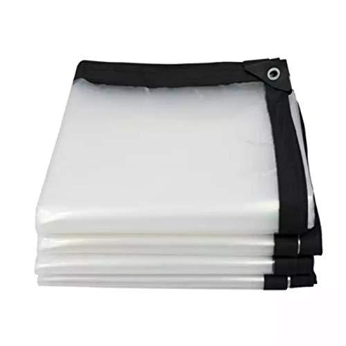 ALGWXQ Lona Impermeable Transparente con Ojal Alta Estabilidad Durable Lona Alquitranada Invernadero Patio Tapa Protectora Jardín Mueble Planta Anticongelante Proteccion, 18 Especificaciones