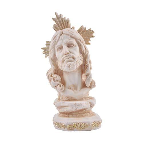 thelastplanet Jesus Statue Figur Skulpture Religiöse Handwerk Resin Kerzenhalter Teelichthalter