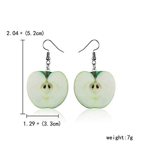 QIANGU Ear Stud, 9 Pairs Cute Acrylic Fruit Drop Dangle Earrings Sets Tomato Kiwi Orange Jewelry