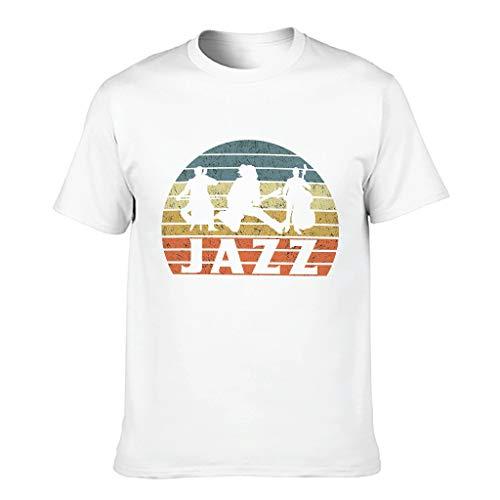 FFanClassic Camiseta de algodón para hombre Jazz Cool Funny Transpirable - Tema Tops