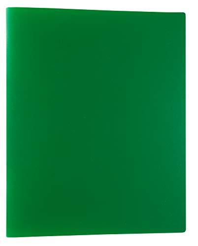 Idena 10434 - Ringbuch im Format DIN A4, mit 2-Ring-Mechanik, 20 mm Rückenbreite, grün, 1 Stück