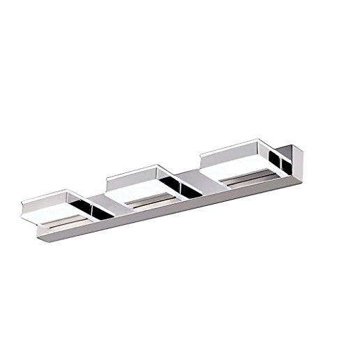 CWT Faro de espejo de LED de acero inoxidable resistente al agua y a prueba de niebla Lámpara cosmética Inodoro Inodoro Armario de baño Luz Lampara de baño (Color : White)