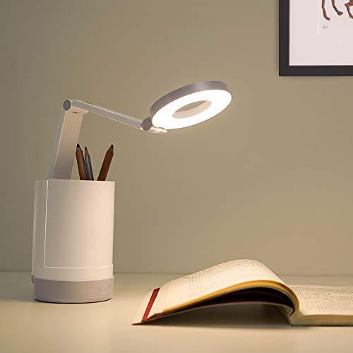 Zzyff Recargable Escritorio Ojo Estudiante Lámpara De Escritorio De La Protección De Cabecera del Dormitorio Dormitorio Estudio Sostenedor De La Pluma De Lectura Lámpara De Escritorio LED