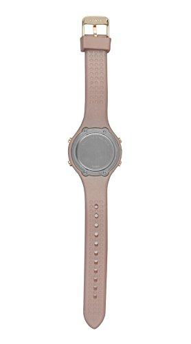 Moulin Women's Pastel Color Digital Jelly Watch Dark Screen Metallic Pink #03158-77175