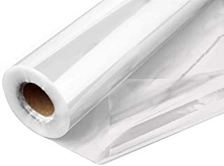 """Clear Cellophane Wrap Roll 31.5 Inches Wide by 100 Feet Long 1.2 Mil Thick Cellophane Roll for Baskets Gifts Flowers Food Safe Cello Rolls (Folded on 16"""" Roll - Unfolds to 31.5"""" Wide) (32""""x100')"""