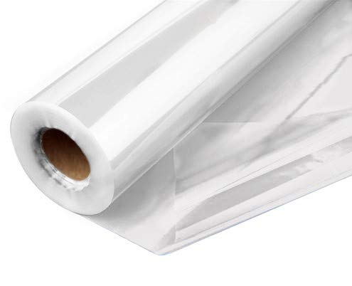 Clear Cellophane Wrap Roll 31.5 Inches Wide 100 Ft Long 1.4 Mil Thick Cellophane Roll for Baskets Gifts Flowers Food Safe Cello Rolls (Folded on 16 Roll - Unfolds to 31.5 Wide)
