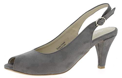 Andrea Conti Damen 1003440 Sandalette, Größe:37 EU, Farbe:grau